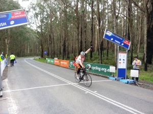Reidy claiming a stage win at the Tour.